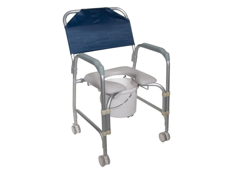 Commode/Shower Chair with Wheels